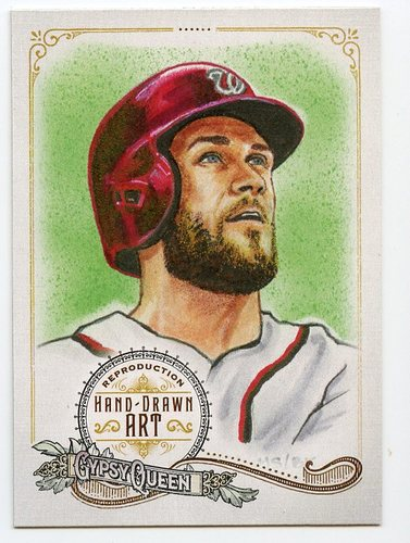 Photo of 2017 Topps Gypsy Queen Hand Drawn Art Reproductions #GQARBH2 Bryce Harper