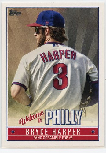 Photo of 2019 Topps Update Bryce Harper Welcome to Philly #BH11 Bryce Harper