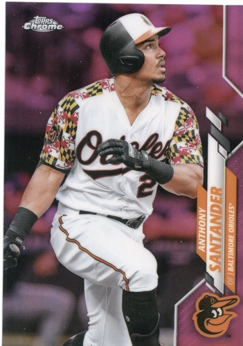 Photo of 2020 Topps Chrome Pink Refractors #130 Anthony Santander