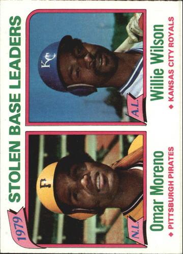 Photo of 1980 Topps #204 Stolen Base Leaders/Omar Moreno/Willie Wilson