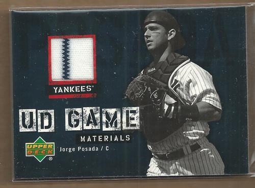 Photo of 2006 Upper Deck UD Game Materials #PO Jorge Posada Jsy S1