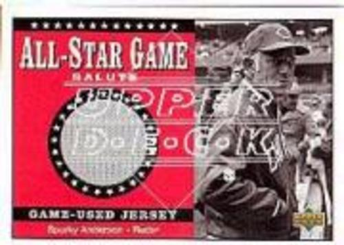 Photo of 2002 Upper Deck All-Star Salute Game Jersey #SJSA Sparky Anderson