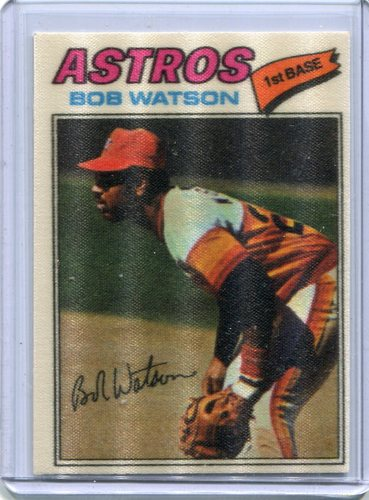 Photo of 1977 Topps Cloth Stickers #51 Bob Watson
