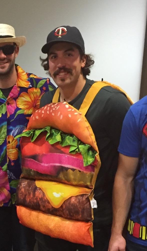 Justin Faulk #27 Autographed Hamburger Halloween Costume