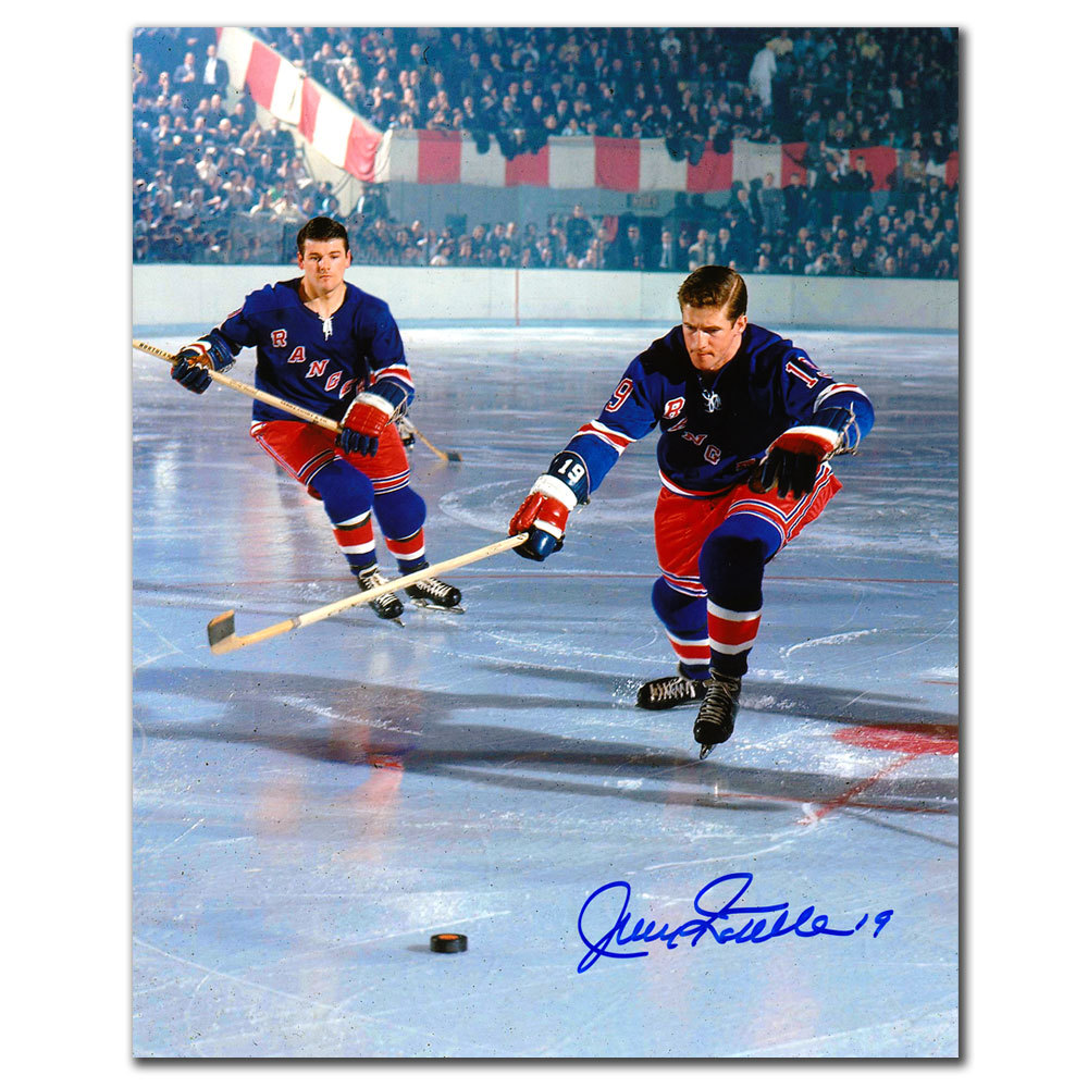 Jean Ratelle New York Rangers GILBERT Autographed 8x10