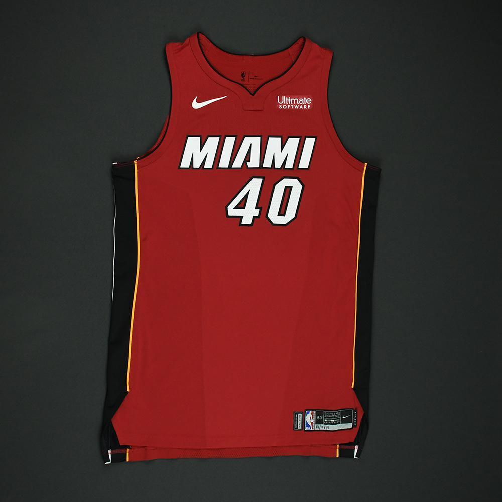 Udonis Haslem - Miami Heat - Game-Worn 'Statement' Jersey - 2017-18 Season