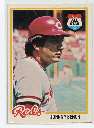 Photo of 1978 Topps #700 Johnny Bench Hall of Fame Class of 1989