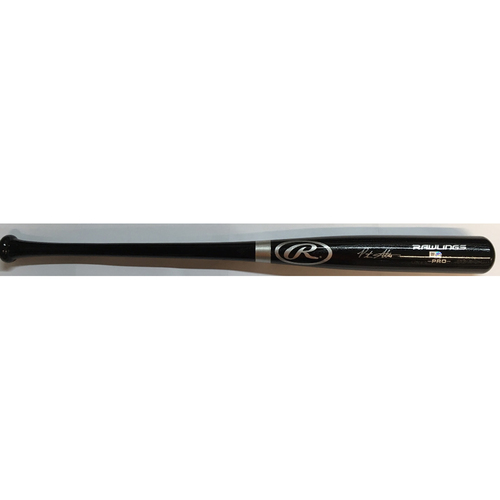 Photo of Peter Alonso Autographed Black Rawlings Bat