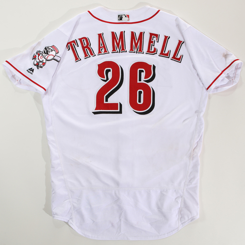 Photo of 2018 Arizona Fall League Game-Used Jersey - Taylor Trammell -Size 46