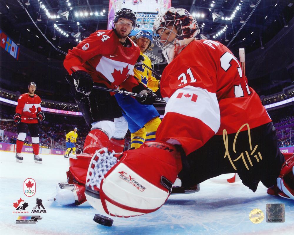 Carey Price Signed 8x10 Unframed Canada 2014 Red Netcam