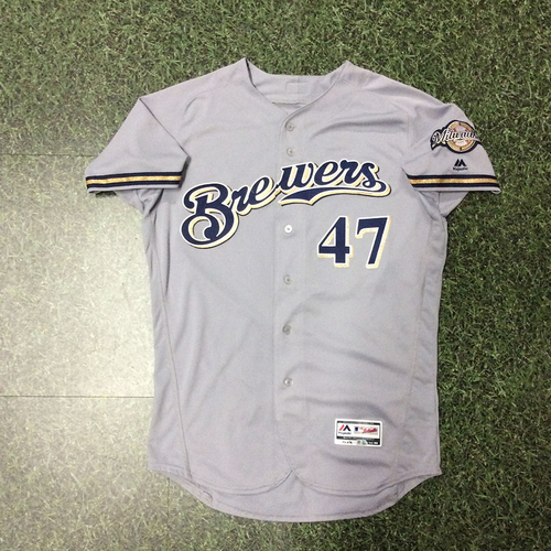 Gio Gonzalez 2018 Team-Issued Road Grey Jersey