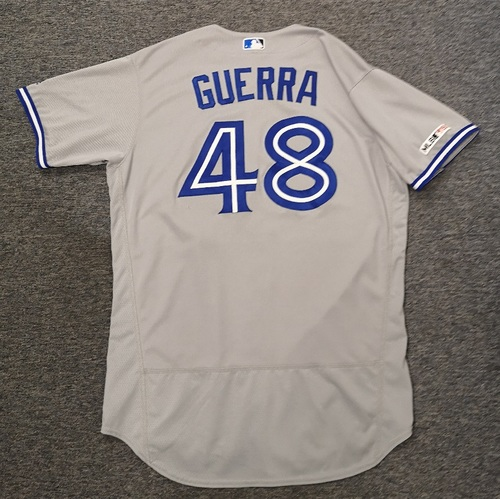 Photo of Authenticated Game Used Jersey: #48 Javy Guerra (April 5, 19 vs CLE: 1.1 IP, 0 ER, 2 Ks). Size 48
