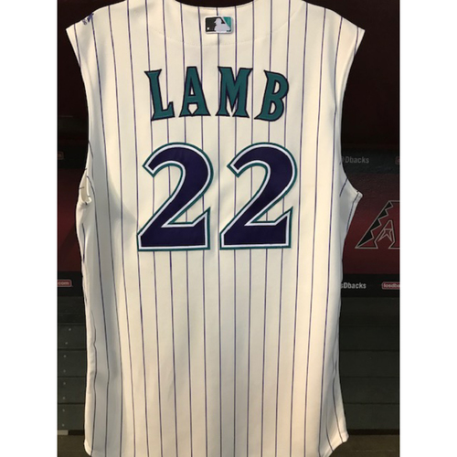 Photo of Jake Lamb Game-Used Throwback Jersey - 8/29/19 vs. Dodgers
