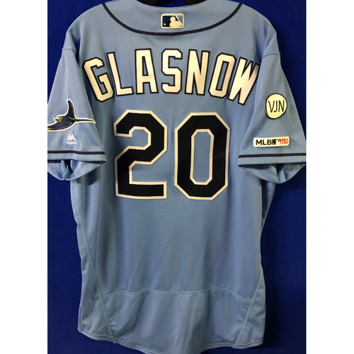Photo of Game Used Jersey: Tyler Glasnow (2.0 IP, 5 SO) - September 8, 2019 v TOR