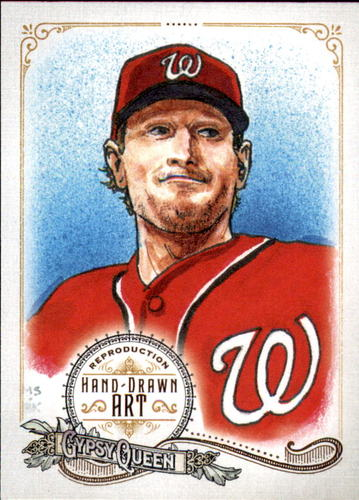 Photo of 2017 Topps Gypsy Queen Hand Drawn Art Reproductions #GQARMS2 Max Scherzer