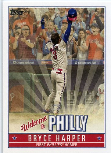 Photo of 2019 Topps Update Bryce Harper Welcome to Philly #BH13 Bryce Harper