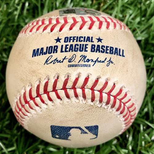 Photo of Game Used Baseball: Will Harris strikes out Willy Adames - September 16, 2020 v WSH