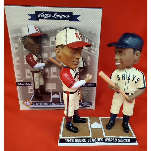 Photo of NEGRO LEAGUES SPECIAL EDITION DOUBLE BOBBLEHEAD: Satchel Paige and Josh Gibson