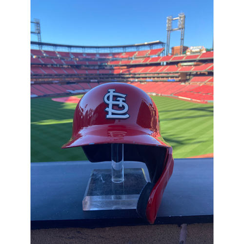 Photo of Cardinals Authentics: Game Worn Tyler O'Neill Home Red Helmet