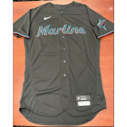 Photo of 2021 Auction: Sandy Alcantara Game-Used Jersey - First Career Playoff Start & NLDS Game 1 - Miami Marlins vs. Chicago Cubs 09/30/20 NL Wild Card Game 1 & vs. Atlanta Braves 10/06/20 NLDS Game 1