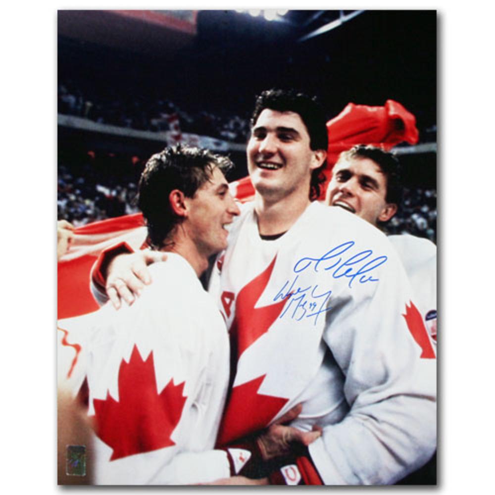 Wayne Gretzky & Mario Lemieux Autographed 1987 Canada Cup 16X20 Photo