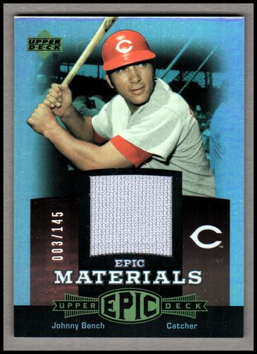 Photo of 2006 Upper Deck Epic Materials Red #JB2 Johnny Bench Jsy/145