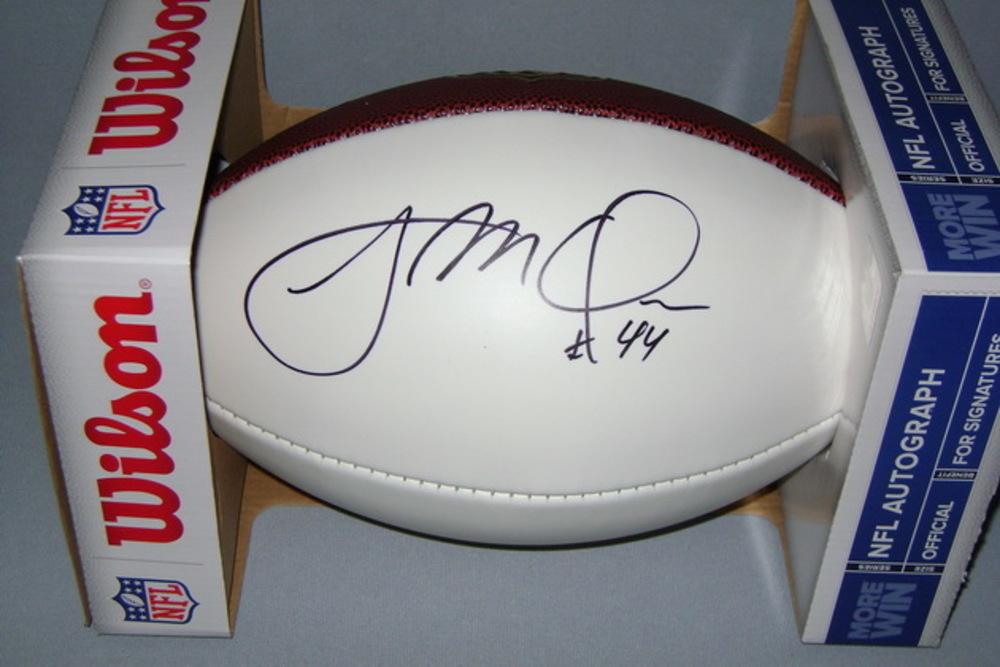 NFL - RAMS JACOB MCQUAIDE SIGNED PANEL BALL