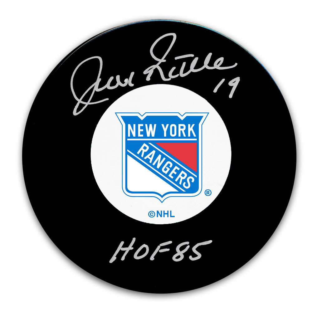 Jean Ratelle New York Rangers HOF Autographed Puck