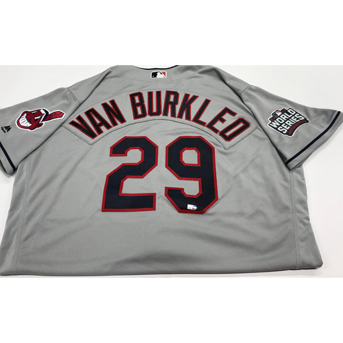 Photo of Ty Van Burkleo Team-Issued 2016 World Series Road Jersey