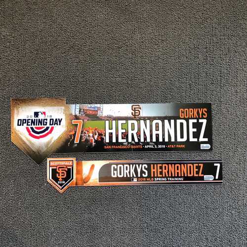 Photo of San Francisco Giants - Gorkys Hernandez 2018 Spring Training & Opening Day Locker Tags