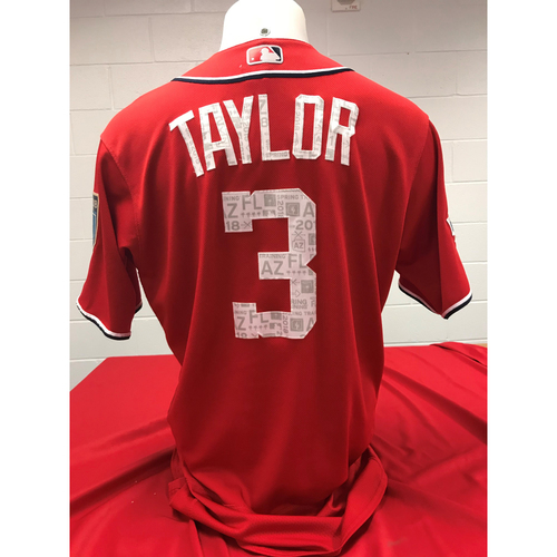 Photo of Game-Used Spring Training Jersey : Michael A. Taylor