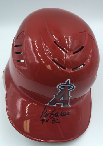 "Photo of Rod Carew ""7x BC"" Autographed Angels Helmet"