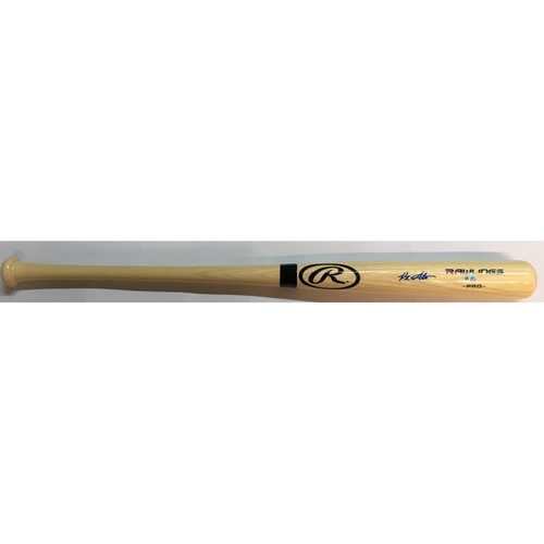 Photo of Peter Alonso Autographed Blonde Rawlings Bat