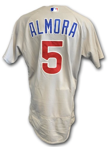 Photo of Albert Almora Game-Used Jersey -- Cubs at White Sox -- 9/22/18 -- Almora 1 Run, 1 RBI
