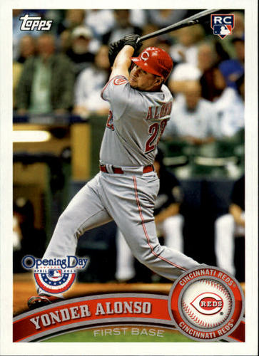 Photo of 2011 Topps Opening Day #49 Yonder Alonso RC