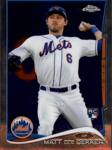Photo of 2014 Topps Chrome #92 Matt den Dekker RC