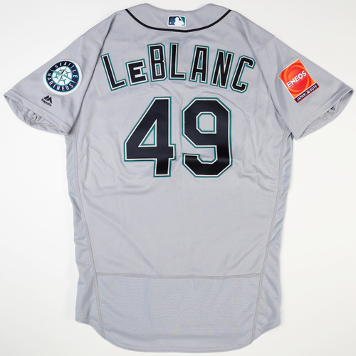 Photo of 2019 Japan Opening Day Series - Game Used Jersey - Wade LeBlanc, Seattle Mariners at Oakland Athletics -3/20/2019
