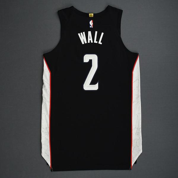 detailing 12f5c 1dbcc John Wall - Washington Wizards - 2018-19 Season - Game-Worn ...