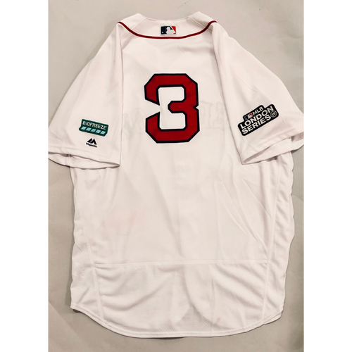 Photo of 2019 London Series - Game-Used Jersey - Sandy Leon, New York Yankees vs Boston Red Sox - 6/29/19