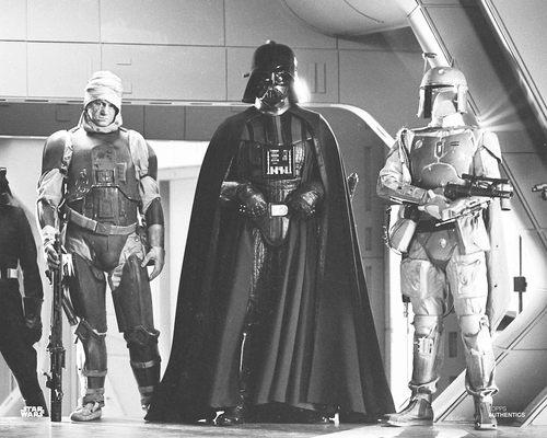 Darth Vader, Boba Fett, Bossk, and Dengar