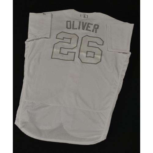 """Photo of Raisel """"OLIVER"""" Iglesias Cincinnati Reds Game-Used 2019 Players' Weekend Jersey"""