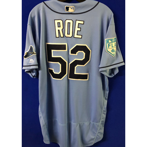 Game Used Spring Training Jersey: Chaz Roe - March 26, 2019 v DET