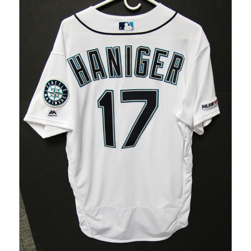 Photo of Mitch Haniger Team-Issued White Jersey