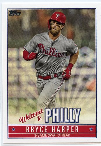 Photo of 2019 Topps Update Bryce Harper Welcome to Philly #BH14 Bryce Harper