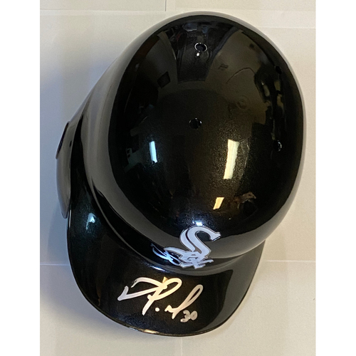 Photo of Nomar Mazara Autographed White Sox Batting Helmet