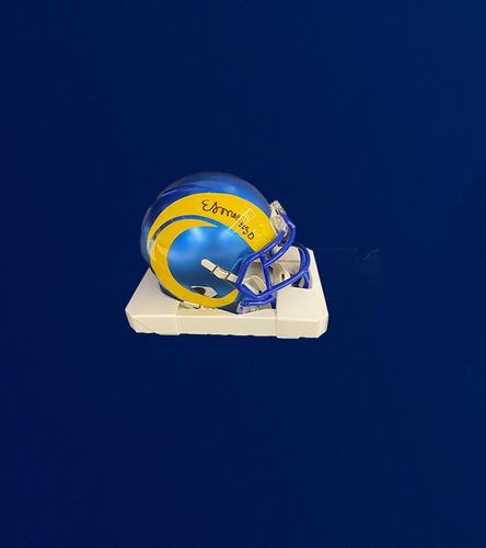 Photo of 2021 3rd Round Draft Pick - Ernest Jones Signed Mini-Helmet