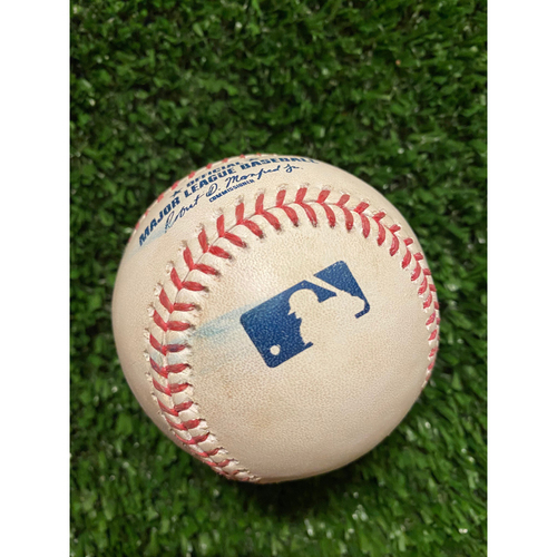 Photo of Thomas Szapucki Pitched Ball to Ronald Acuna Jr. - Foul - Szapucki MLB Debut 6/30/21