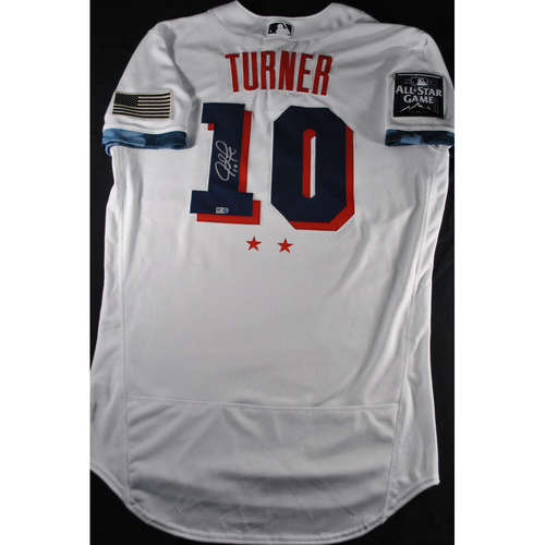 Photo of Justin Turner 2021 Major League Baseball All-Star Game Autographed Jersey