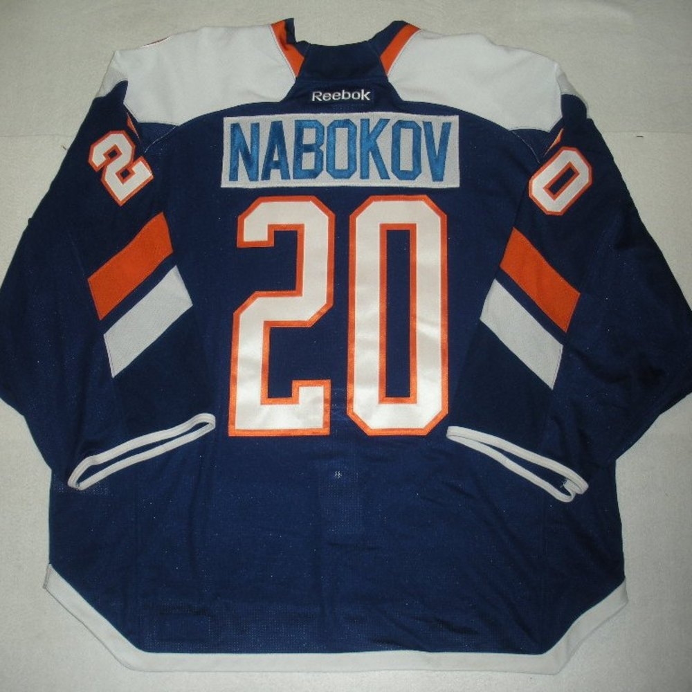 Evgeni Nabokov - 2014 Stadium Series - New York Islanders - Blue Game-Worn Jersey - Worn in First Period