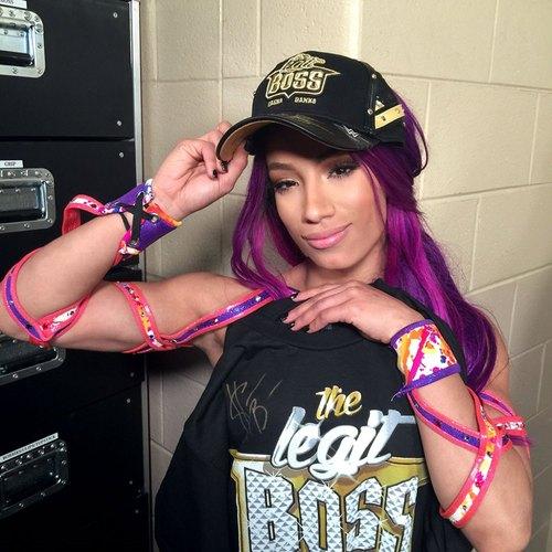 Photo of Sasha Banks SIGNED Legit Boss T-Shirt (Size: Large)